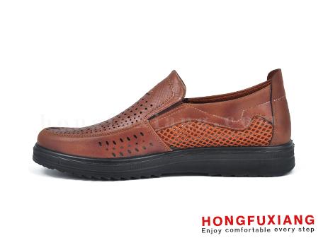 鸿福祥布鞋男鞋HG630153驼色图片