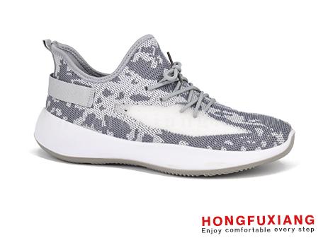 鸿福祥布鞋男鞋HG740205灰色