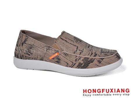 鸿福祥布鞋男鞋HG630173米色