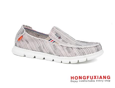 鸿福祥布鞋男鞋HG630101米色