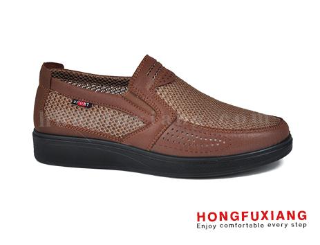 鸿福祥布鞋男鞋HG640161棕色