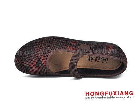 鸿福祥布鞋女鞋HL140252棕色图片