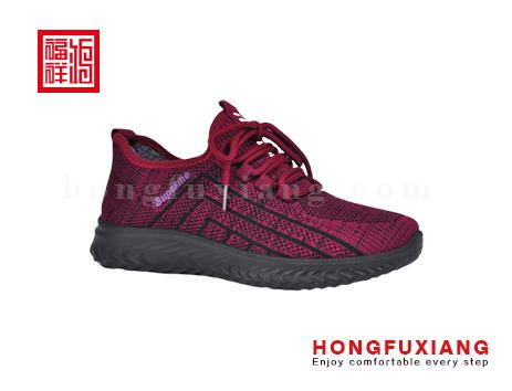 鸿福祥布鞋女鞋HL789620紫红