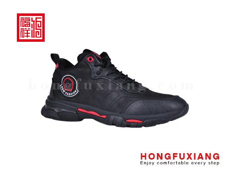 鸿福祥布鞋男鞋HG679609黑红