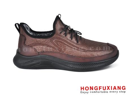 鸿福祥布鞋男鞋HG670553@棕色
