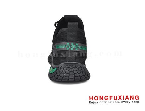 鸿福祥运动男鞋HG670575@黑绿图片