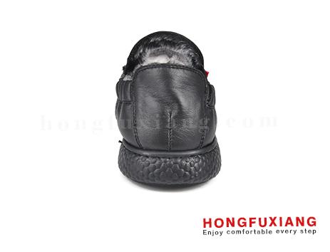 鸿福祥休闲男鞋HG670629@黑色图片