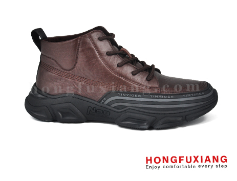 鸿福祥布鞋男鞋HG680589@棕色