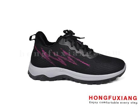 鸿福祥布鞋女鞋HL880590@黑紫
