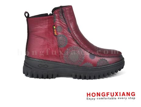 鸿福祥布鞋女鞋HL690660@红色