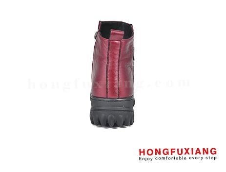 鸿福祥布鞋女鞋HL690660@红色图片
