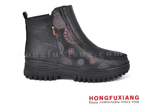 鸿福祥布鞋女鞋HL690660@黑色图片