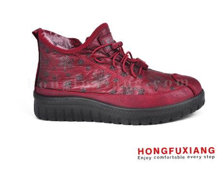 鸿福祥布鞋女鞋HL680600@红色