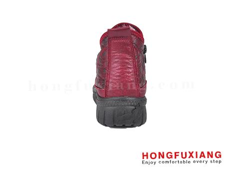 鸿福祥布鞋女鞋HL680600@红色图片