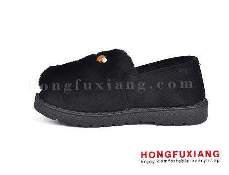鸿福祥布鞋女鞋HL680598@黑色图片