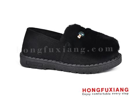 鸿福祥布鞋女鞋HL680598@黑色