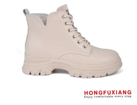鸿福祥女鞋HL680586@米色