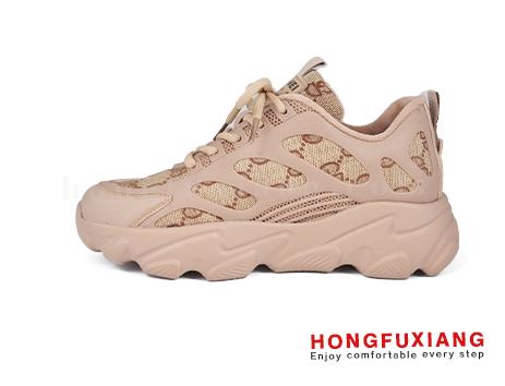 鸿福祥女鞋HL580668@卡其图片