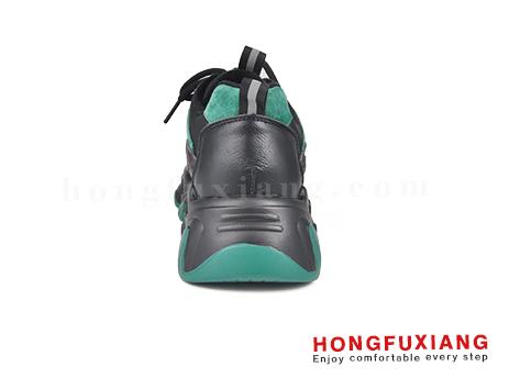 鸿福祥布鞋HL580666@黑绿图片